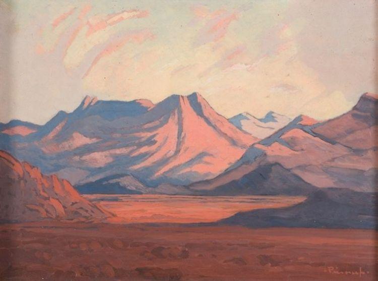 Jacob Hendrik Pierneef; A Mountainous Landscape