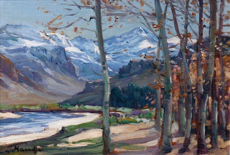 Hugo Naudé; Winter Landscape