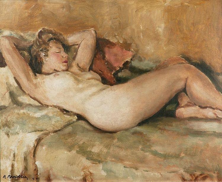 Robert Broadley; Reclining Nude
