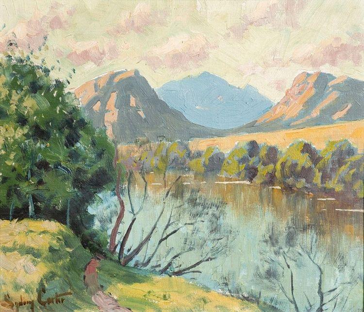 Sydney Carter; Landscape with a River