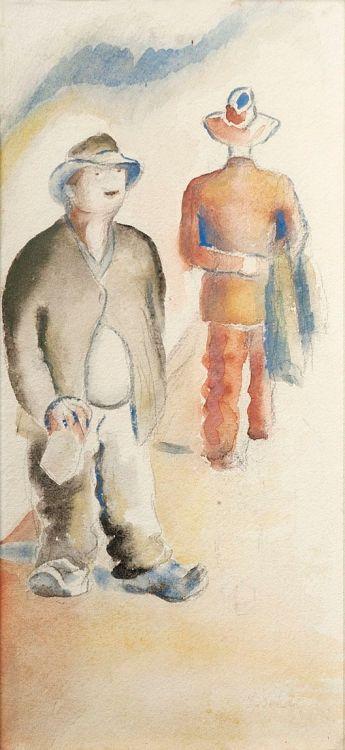 Gerard Sekoto; Two Gentlemen