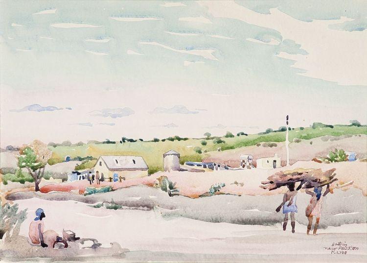 Walter Battiss; Near Pearston, Karoo