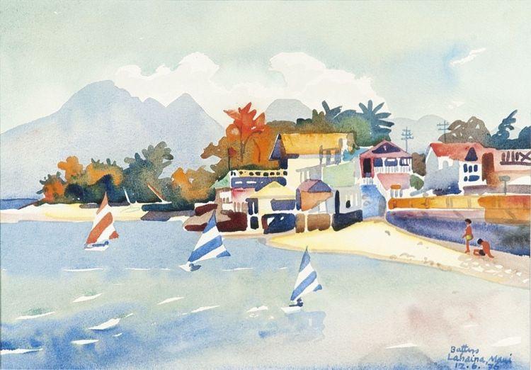 Walter Battiss; Lahaina, Maui