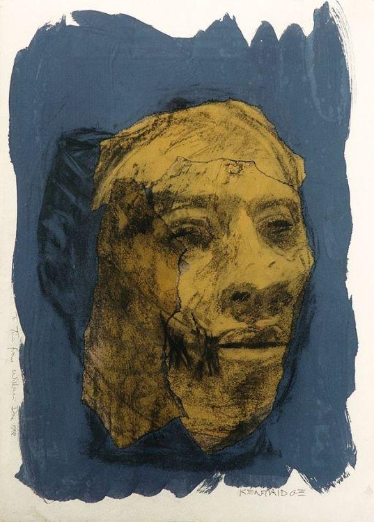 William Kentridge; Ochre Head