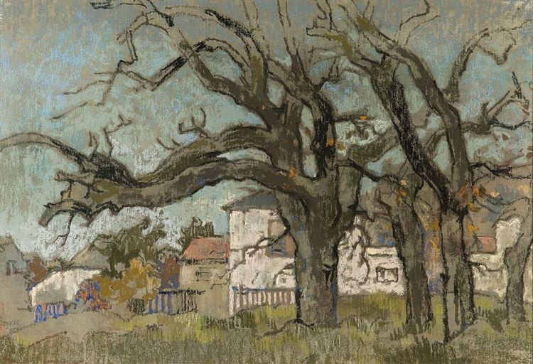 Gregoire Boonzaier; Bare Oaks, Wynberg