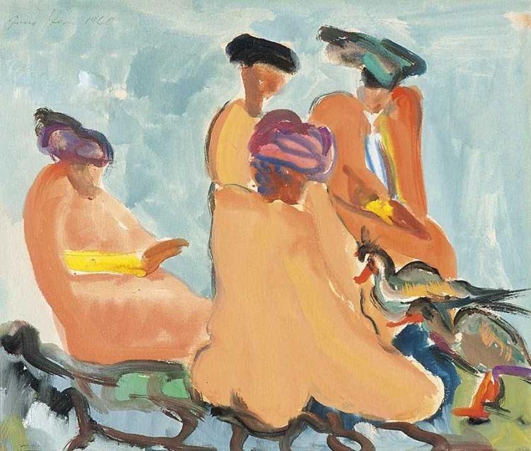 Irma Stern; A Group of Xhosa Women with Birds