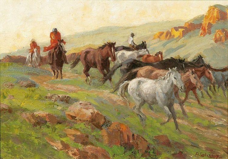 Allerley Glossop; Bringing in the Police Ponies, 'Zacha's Nek'