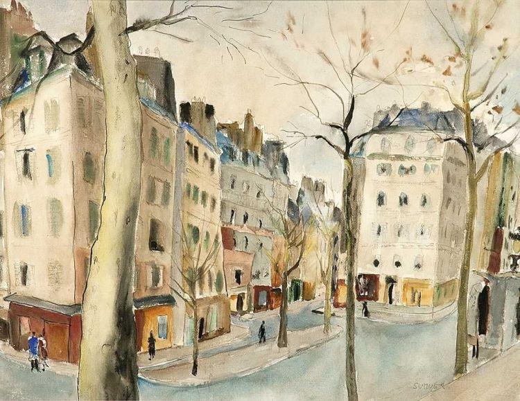 Maud Sumner; Parisian Street Scene