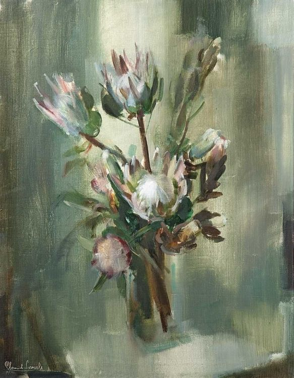Clement Serneels; Still Life with Proteas