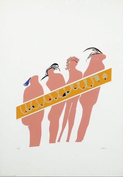 Walter Battiss; Four Excessive Females