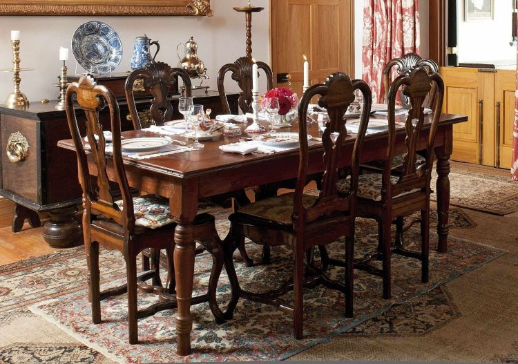 An Indonesian teak dining table