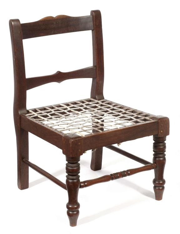A Cape teak and mulberry child's chair, late 19th century