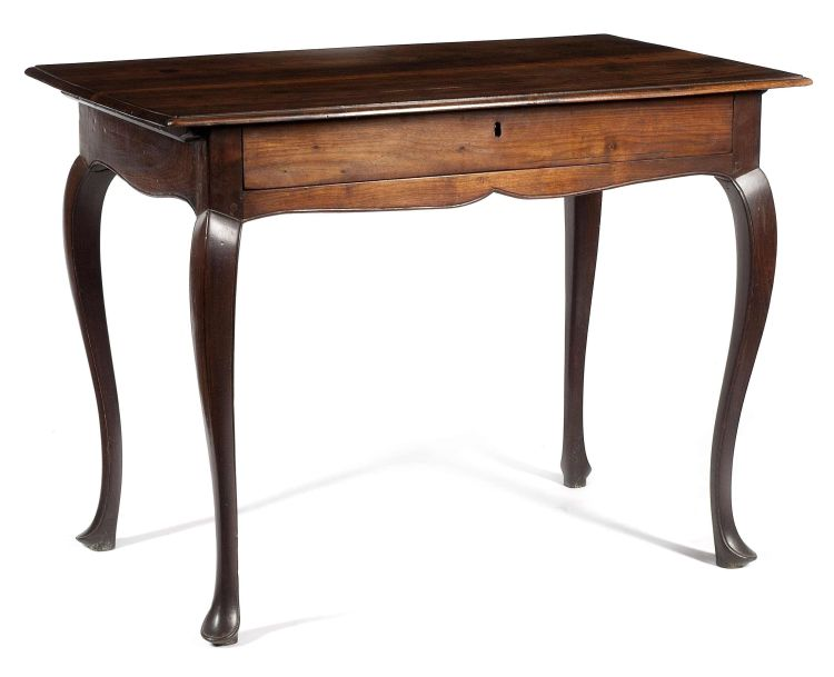 A Cape stinkwood peg-top side table, 18th century