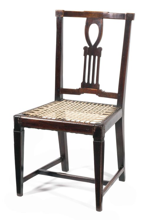 A Cape stinkwood neoclassical side chair, early 19th century
