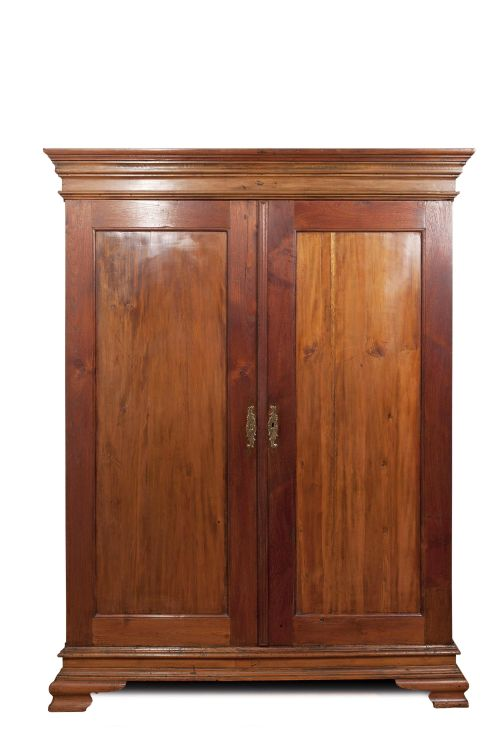 A Cape teak and yellowwood cupboard, late 18th century