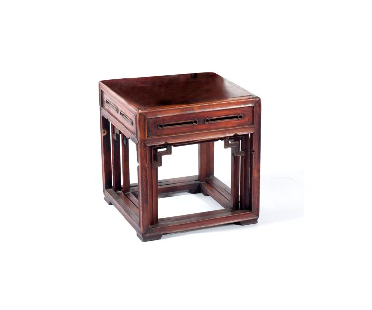 A nest of three Chinese hardwood stands, early 20th century