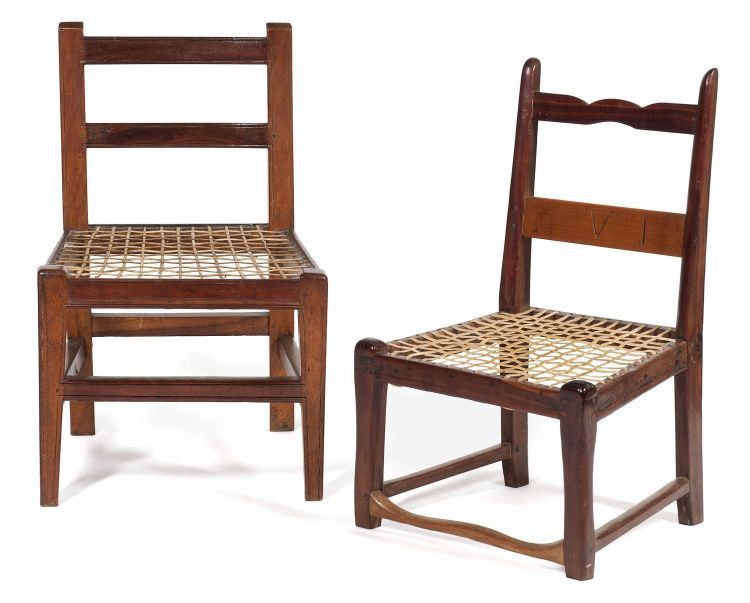 A Cape stinkwood and fruitwood low chair, 19th century