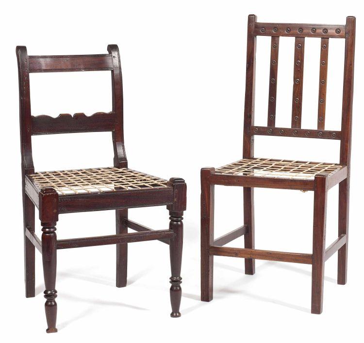 A Cape tamboti side chair, 19th century