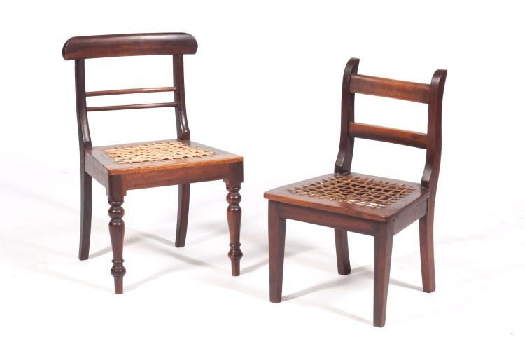 A Cape stinkwood child's chair, JJ Preiss, Robertson, late 19th century
