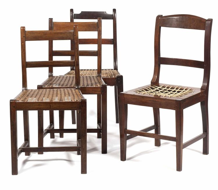 A pair of Cape stinkwood side chairs, 19th century