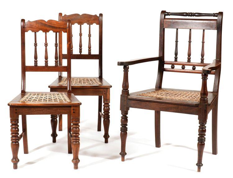 A stinkwood Volkwyn armchair, late 19th/early 20th century
