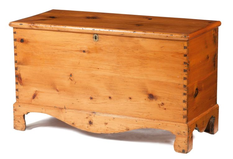 A pine chest, late 19th century