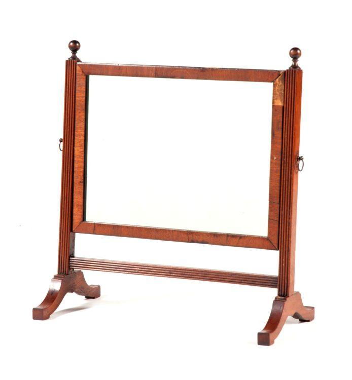 A mahogany toilet mirror, early 20th century