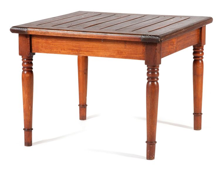 A teak occasional table, modern
