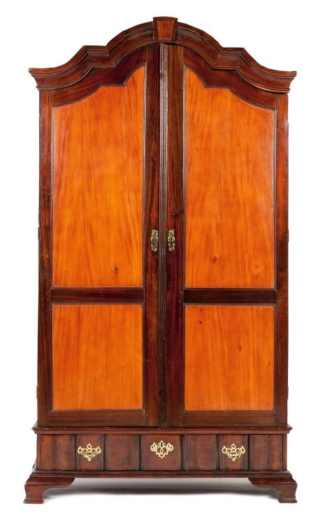 A Cape yellowwood and stinkwood cupboard, 18th century