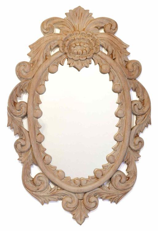 A painted mirror, modern
