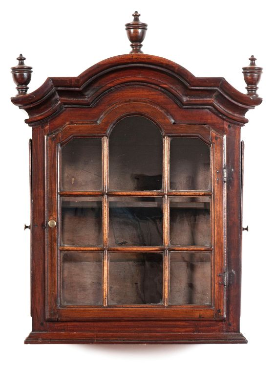 An Indian rosewood hanging cupboard