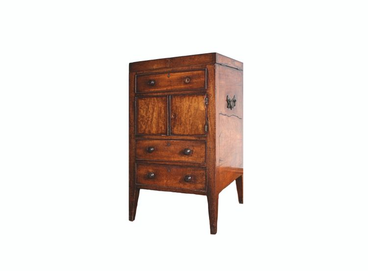 A George III mahogany commode, late 18th century