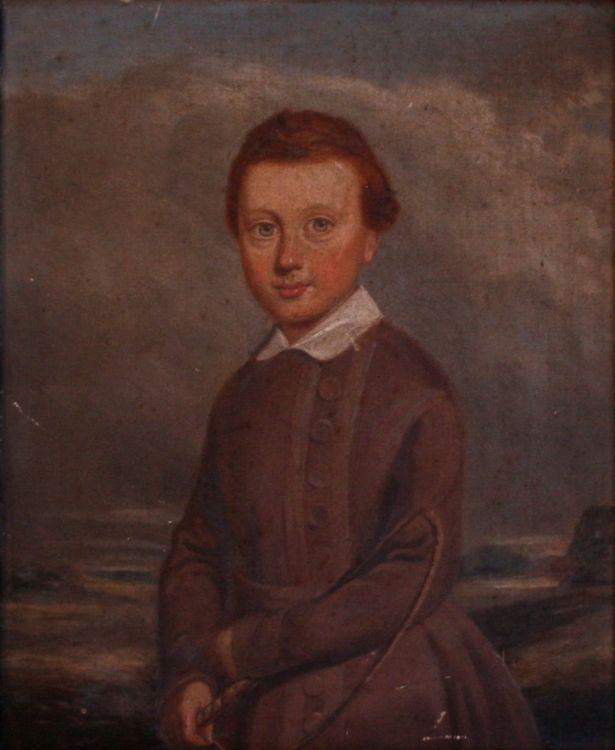British School early 19th Century; Portrait of WA Beecroft, aged 7