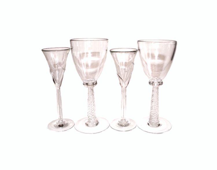 A set of ten David Read drinking glasses