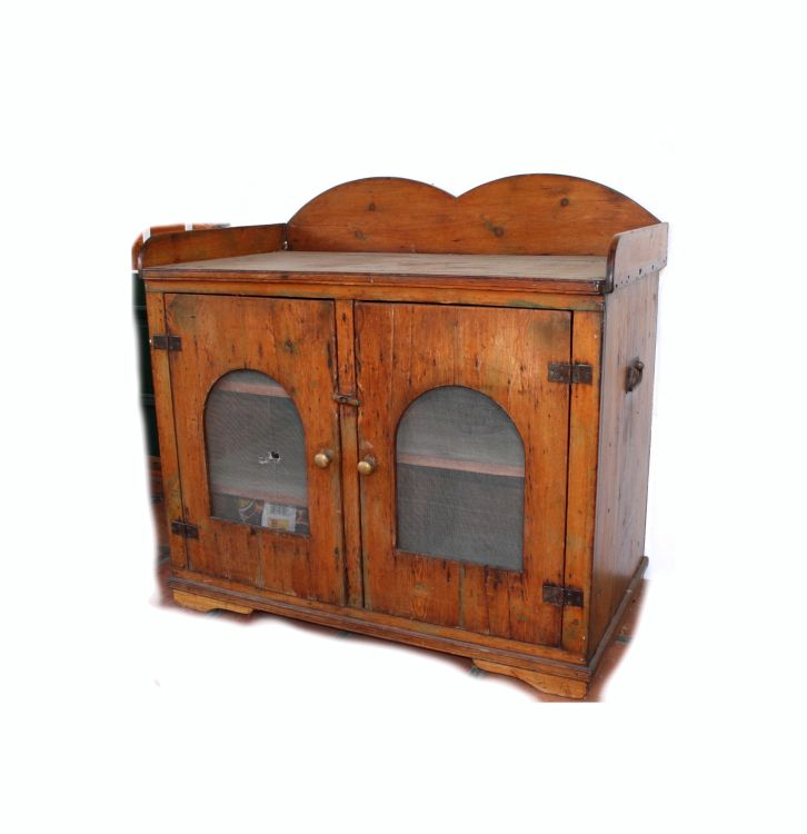A pine cupboard, late 19th century