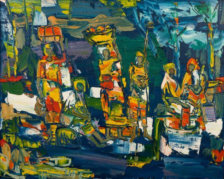 Walter Battiss; The Market