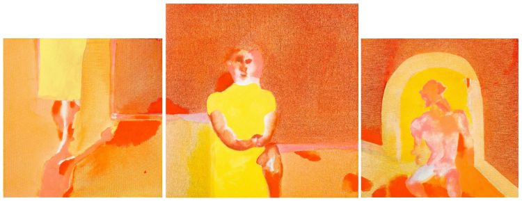 Robert Hodgins; Lyric Suite, triptych