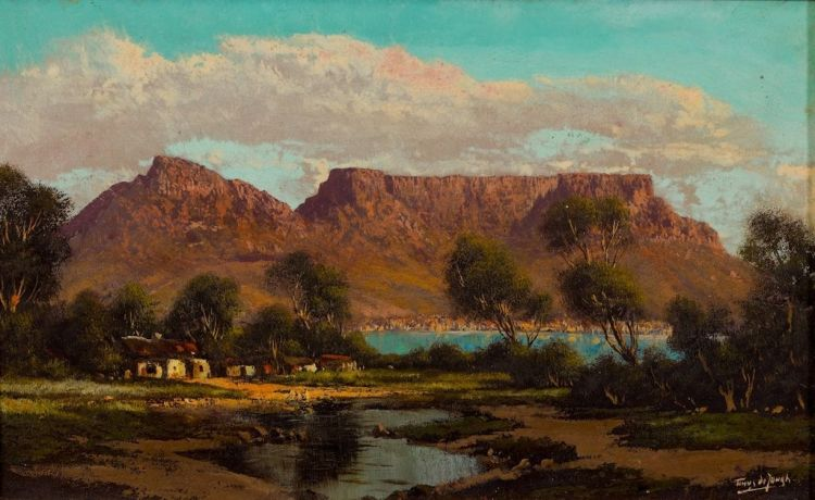 Tinus de Jongh; Table Mountain from Milnerton