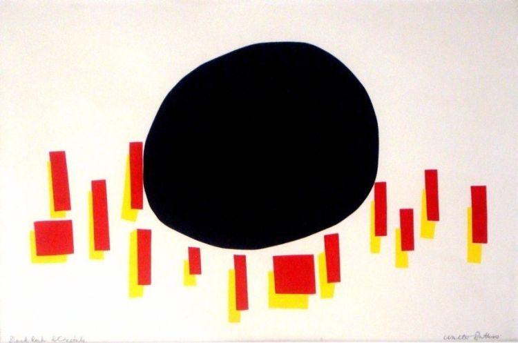 Walter Battiss; Black Rock and Crystals