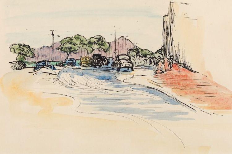 Strat Caldecott; A Street Scene