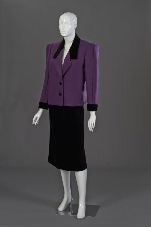 A grape coloured pure wool melton jacket