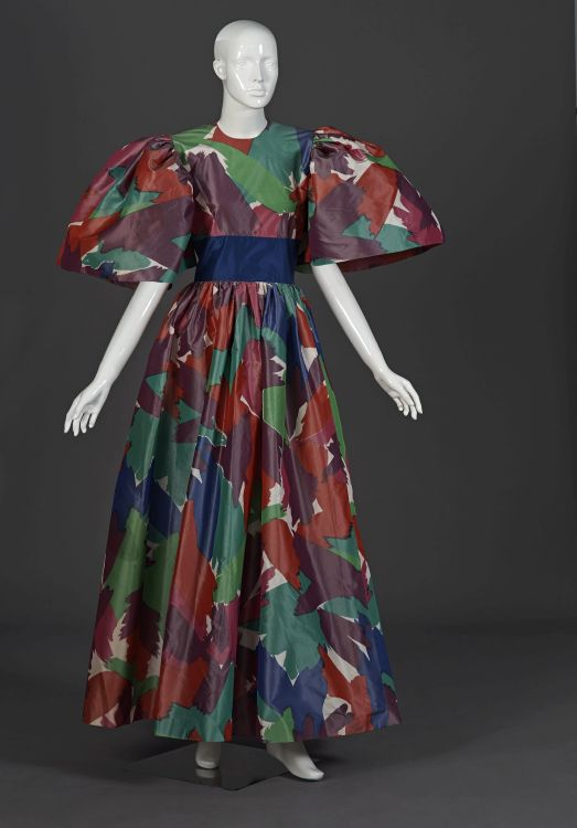 A pure silk canvas taffeta ball gown
