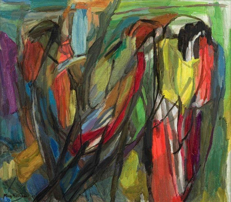 May Hillhouse; Three Parrots