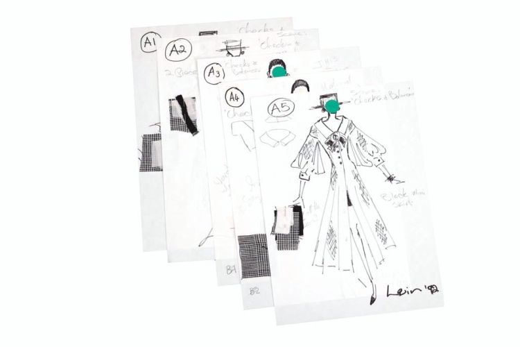 A collection of daywear designs from the Chris Levin Haute Couture collection titled 'Checks and Balances'