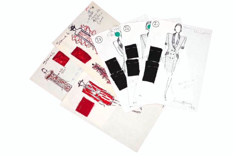 A collection of designs for fashion show presentations
