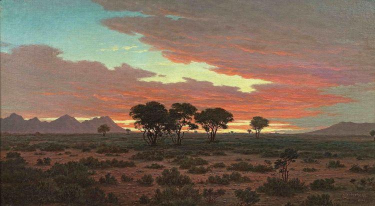 Jan Ernst Abraham Volschenk; Sunset in the Karoo