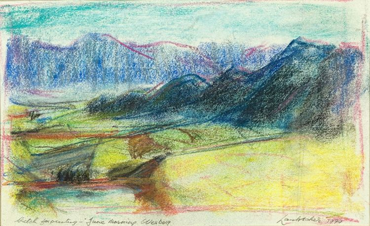Erik Laubscher; Sketch for Painting - June Morning Wesberg