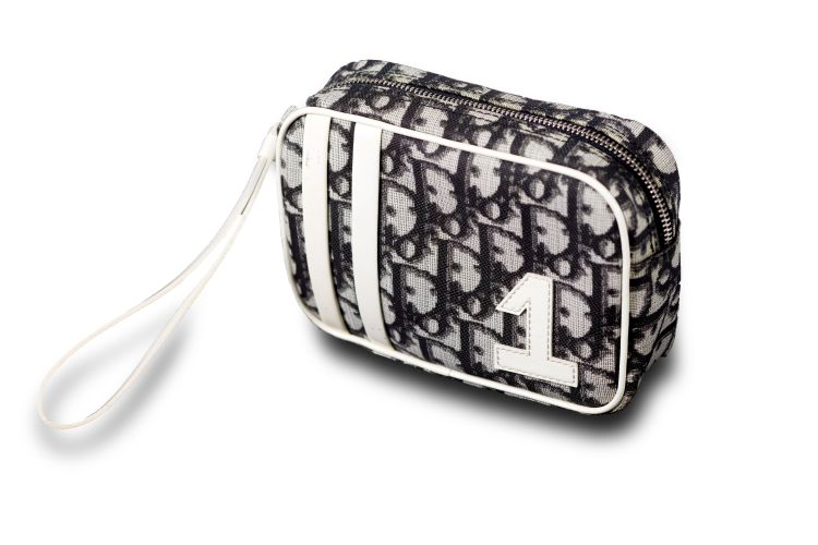 A classic Christian Dior make up bag