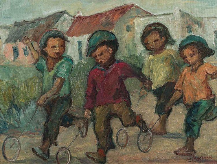 Amos Langdown; Children Playing