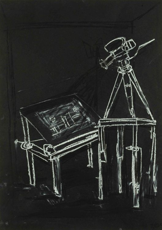 Deborah Bell; Camera on a Tripod with Drawing Board